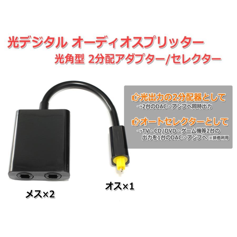 光デジタル オーディオ スプリッター 2分配 光角型 1入力2分配 光角型(オス1:メス2)分配器 SPDIF ハイレゾ nfj