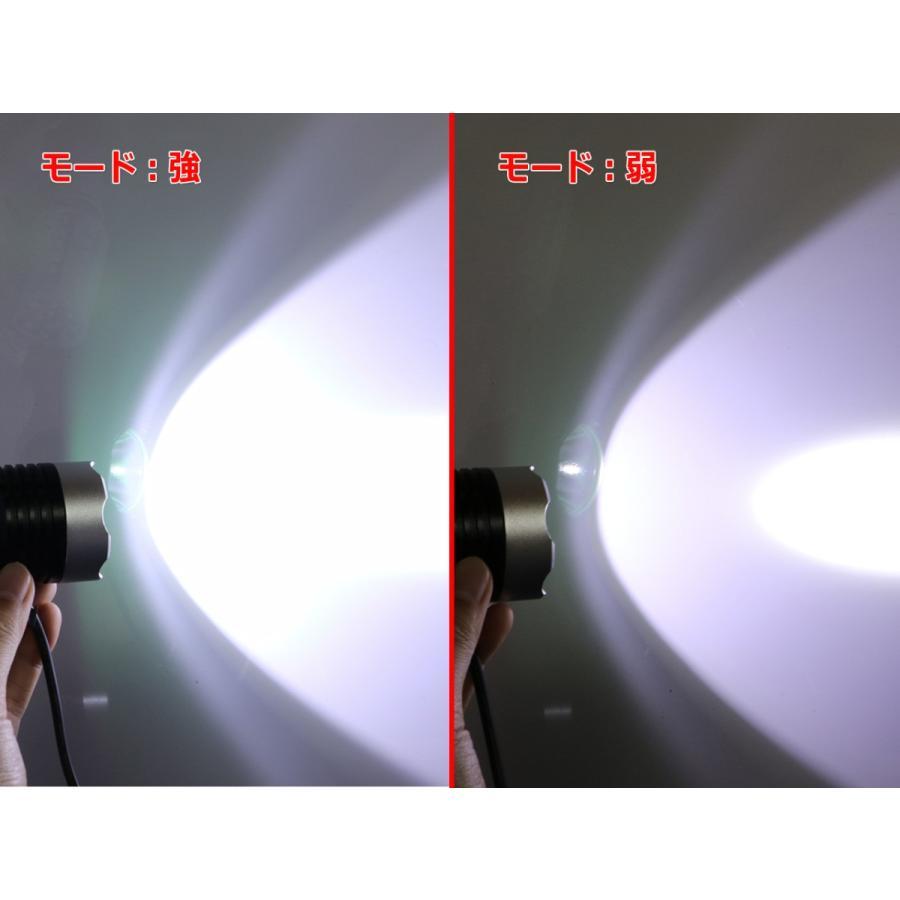 脅威の10W USBフラッシュライト CreeXM-L T6 1200ルーメン『鏡面タイプ』|nfj|04