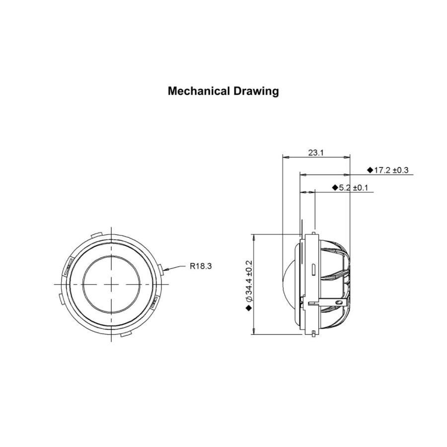 [訳あり特価]Peerless ハイレゾ対応 シルクドームツイーターユニット1インチ(25mm) 4Ω/MAX160W [スピーカー自作/DIYオーディオ]|nfj|07