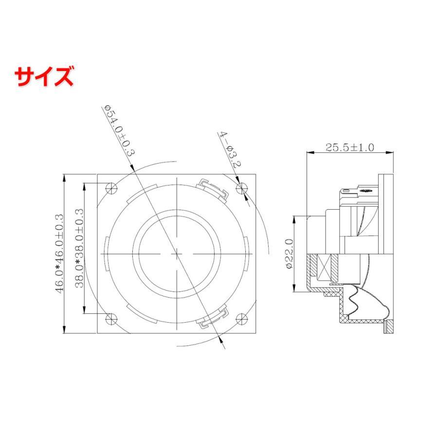 小型1.5インチ(54mm)フルレンジスピーカーユニット 4Ω/MAX6W [スピーカー自作/DIYオーディオ]|nfj|03