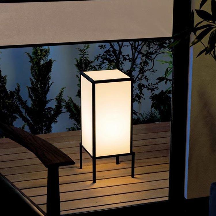 照明 屋外 コンセント 工事不要 ガーデンライト LED おしゃれ 和風 外灯 エクステリア 庭園灯