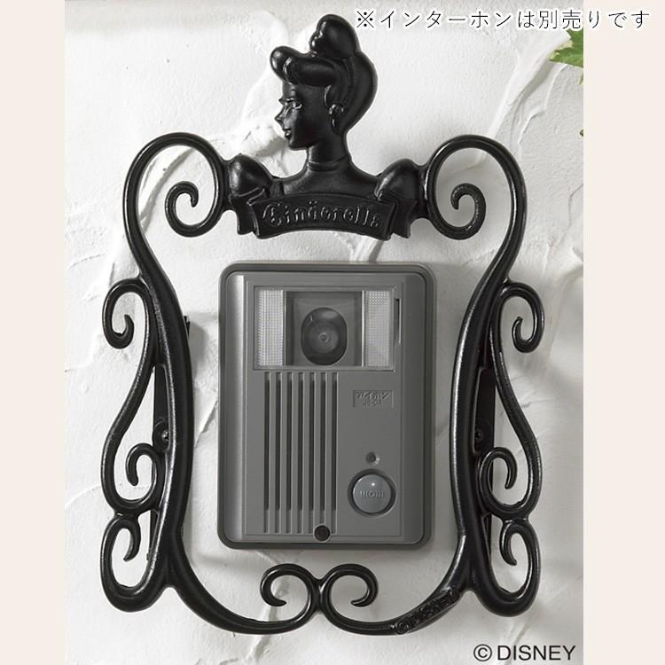 インターホンカバー ディズニー インターホン台座飾り アルミ鋳物 ウォールデコ プリンセスA型