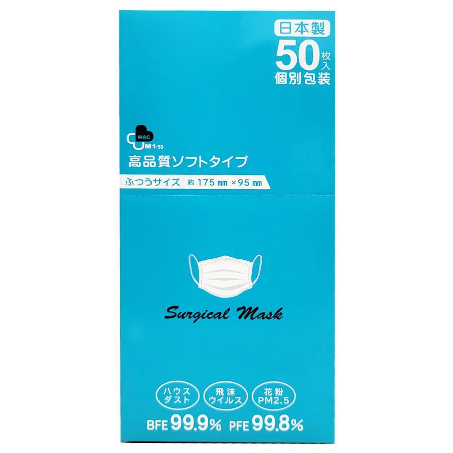 【送料無料】日本製 国産 マスク 黒 Black 使い捨て 不織布 個包装 50枚入 サージカルマスク 普通サイズ 男性 女性 大人 箱|ngreen|05