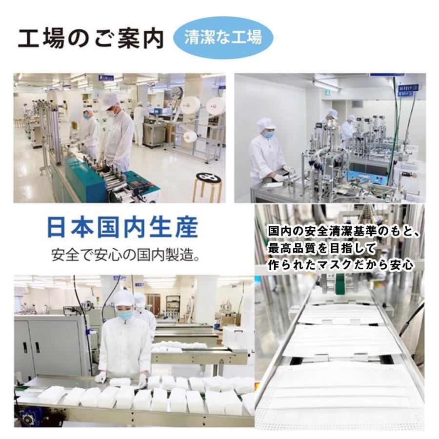 【送料無料】日本製 国産 マスク 白 White 不織布 個包装 50枚入 普通サイズ 男性 女性 大人 箱 サージカルマスク 使い捨て|ngreen|13