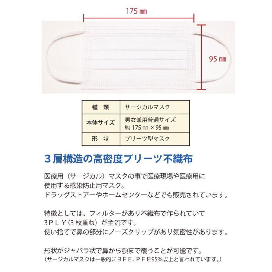 【送料無料】日本製 国産 マスク 白 White 不織布 個包装 50枚入 普通サイズ 男性 女性 大人 箱 サージカルマスク 使い捨て|ngreen|10