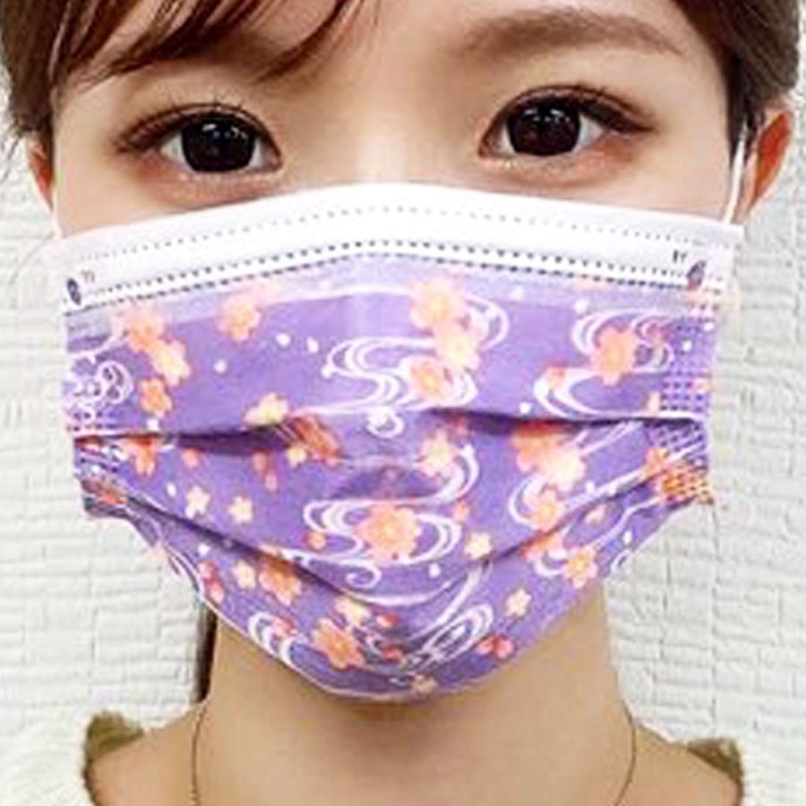 【送料無料】友禅 日本製 国産 マスク 不織布 個包装 30枚入 普通サイズ 男性 女性 大人 箱 サージカルマスク 使い捨て 和柄|ngreen|05