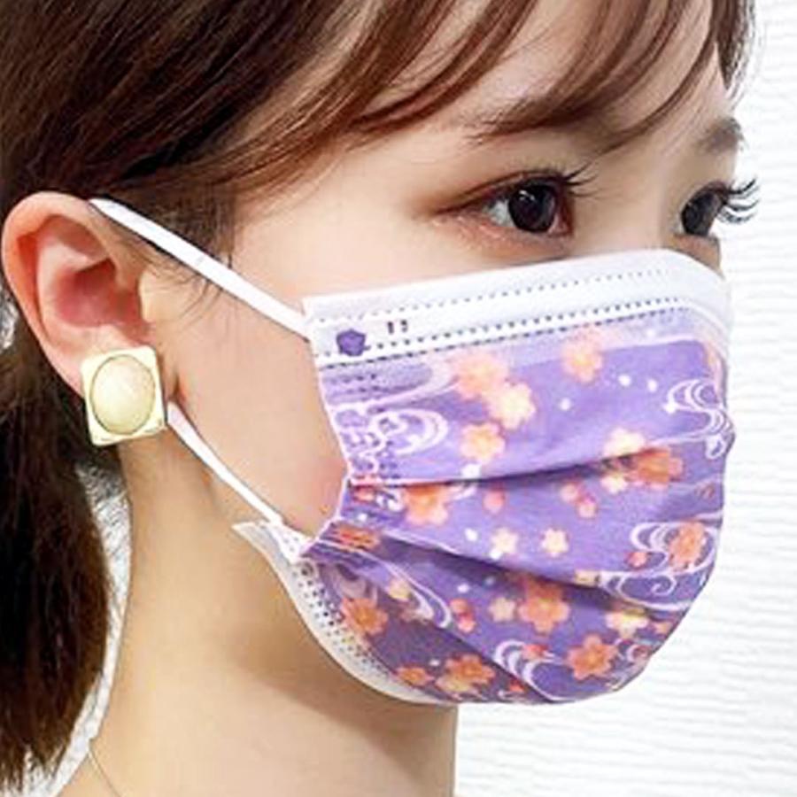 【送料無料】友禅 日本製 国産 マスク 不織布 個包装 30枚入 普通サイズ 男性 女性 大人 箱 サージカルマスク 使い捨て 和柄|ngreen|06