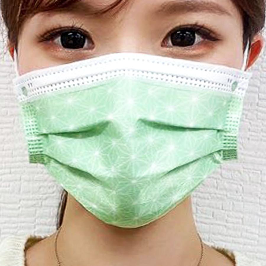 【送料無料】友禅 日本製 国産 マスク 不織布 個包装 30枚入 普通サイズ 男性 女性 大人 箱 サージカルマスク 使い捨て 和柄|ngreen|07