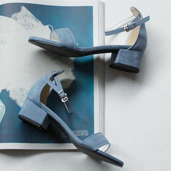 サンダル レディース ストラップサンダル オープントゥ 太ヒール シンプル 美脚 おしゃれ 歩きやすい スエード調 可愛い 5cm 7cm 全2色 大きいサイズ|ngytomato|07