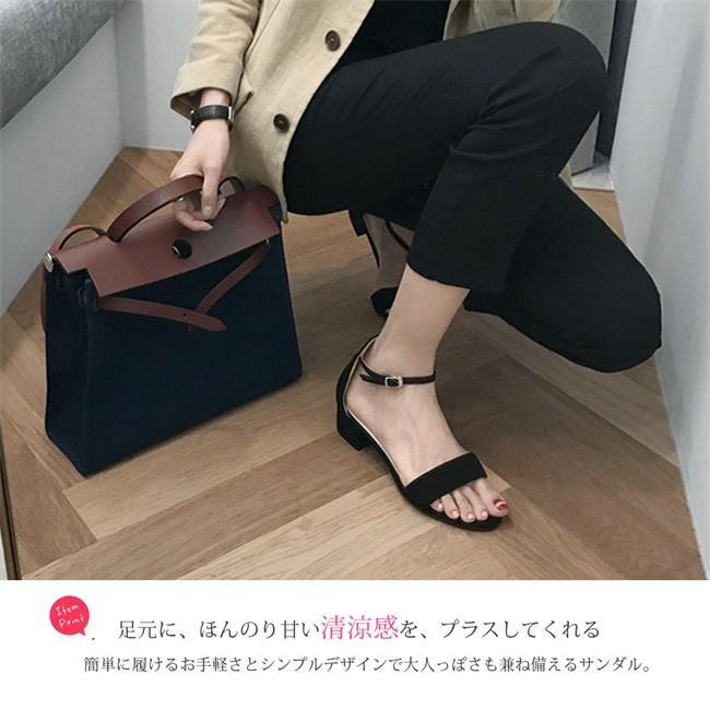 サンダル レディース ストラップサンダル オープントゥ 太ヒール シンプル 美脚 おしゃれ 歩きやすい スエード調 可愛い 5cm 7cm 全2色 大きいサイズ|ngytomato|10