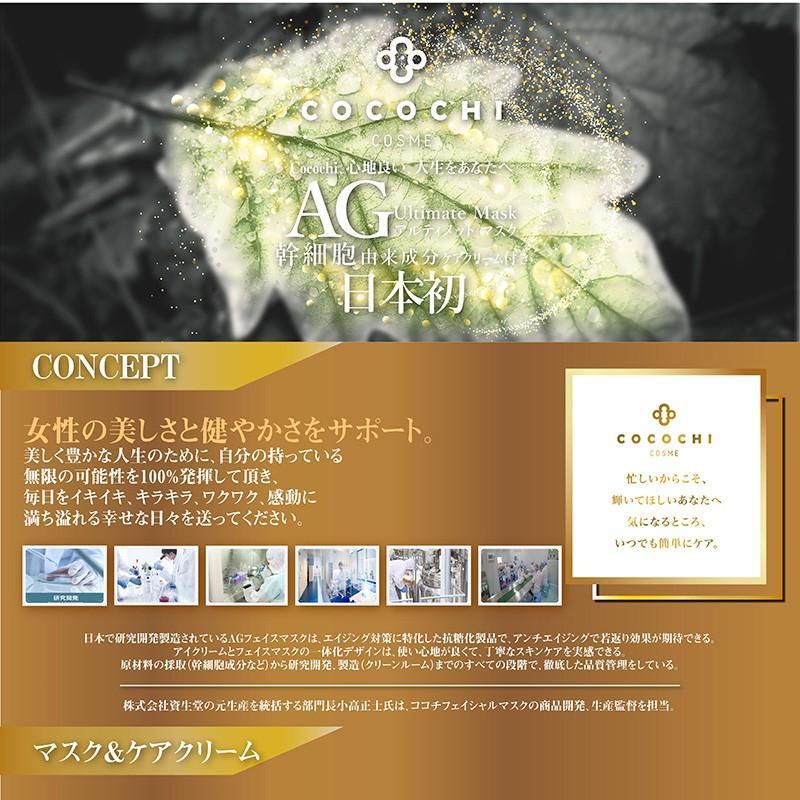 ココチ フェイシャルエッセンスマスク AGアルティメット マスク ケアクリーム付き (5回分)|nhshop|02