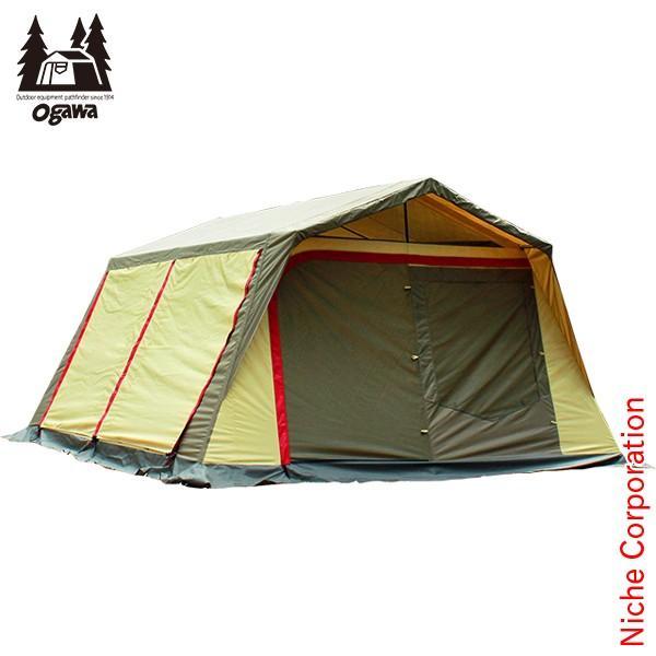 キャッシュレスポイント還元 オガワキャンパル ( ogawa ) ロッジシェルターII (ブラウン×サンド×レッド) 3378 キャンプ用品