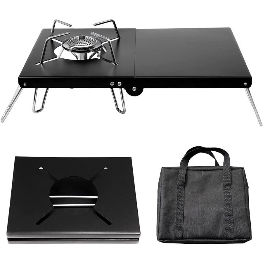 3580→2450 SOTO ST-310対応 シングルバーナー アルミテーブル 1台多役 軽量 折畳式 コンパクト 専用収納袋付き|nichieilifestore
