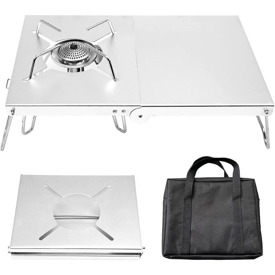 3580→2450 SOTO ST-310対応 シングルバーナー アルミテーブル 1台多役 軽量 折畳式 コンパクト 専用収納袋付き|nichieilifestore|05