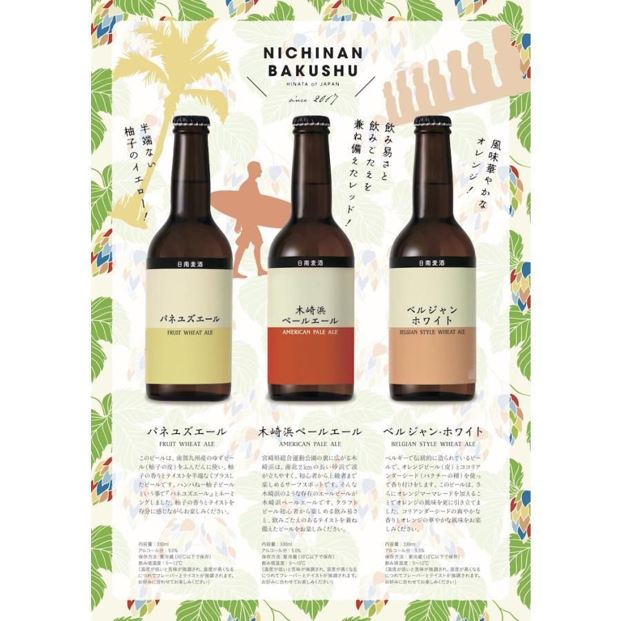 お中元に 宮崎地ビール 日南麦酒 味くらべ6本セット 受注生産 330ml nichinan-tv 05
