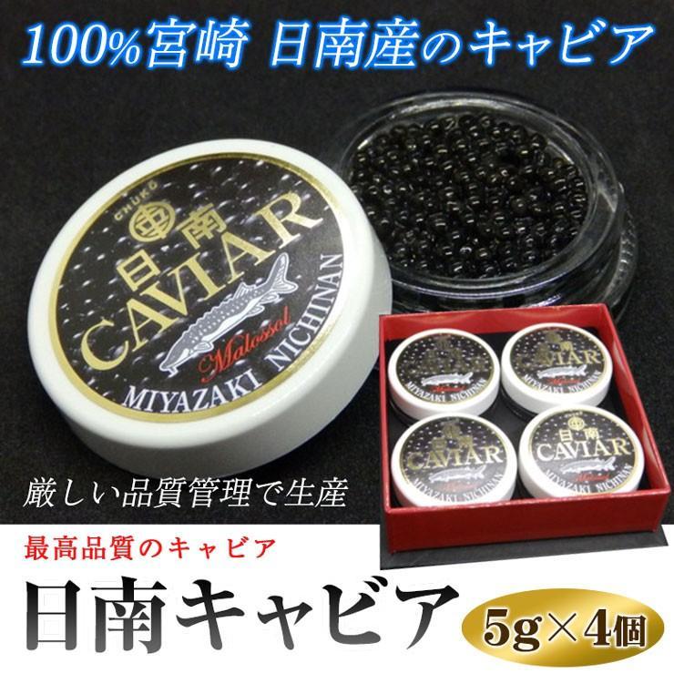 お歳暮 日南キャビア 5g×4個セット 小分けで便利 100%宮崎県日南産 無添加で濃厚な国産キャビア 大切な方へのプレゼントに喜ばれます|nichinan-tv