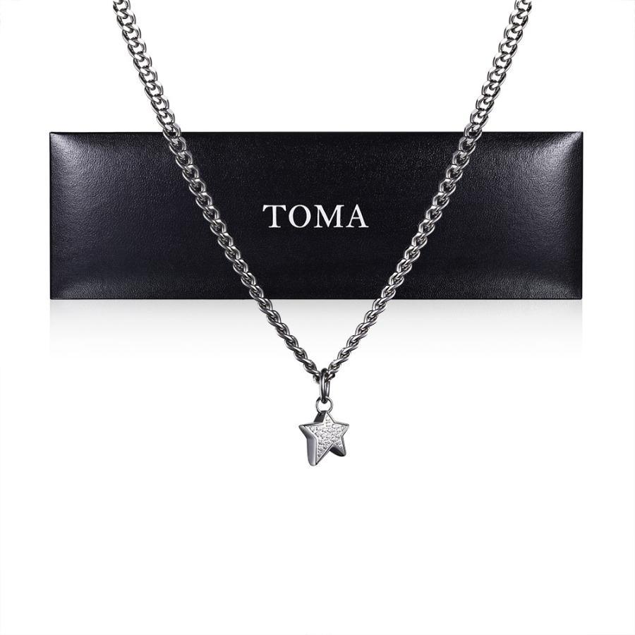 TOMA チタンネックレス 45cm星チャーム国内送料無料  保証書(ギャランティーカード)付き|nichiou
