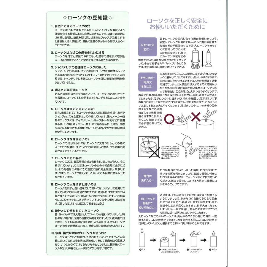 蝋燭 ろうそく ダルマローソク 3号 20本入 日本製 nichirin 02