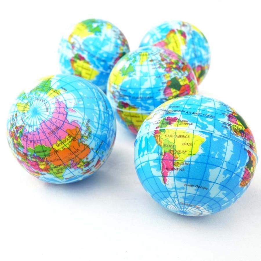 地球儀 PU ボール ( 12個入 ) 景品 ぼーる おもちゃ 子ども会 縁日 お祭り スポーツ お子様ランチ