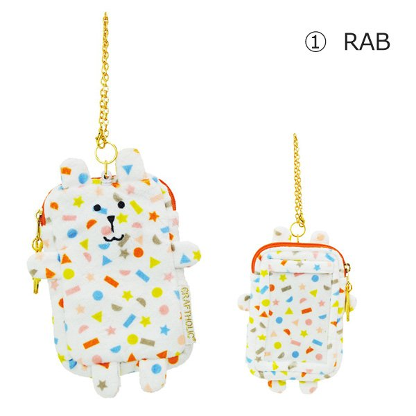 CRAFTHOLIC パスケース Colorful spray RAB/SLOTH nico-marche 02