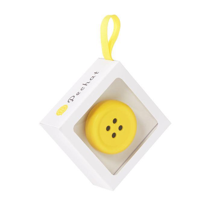 (ラッピング付) (ぬいぐるみセット) Pechat (ペチャット) ぬいぐるみをおしゃべりにするボタン型スピーカー + キイロイトリ ぬいぐるみ (M) MR75601|nico-marche|04