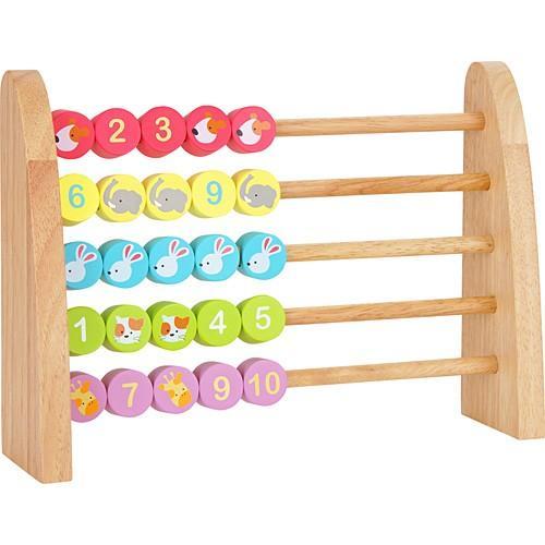 知育玩具 百玉 そろばん 木のおもちゃ ベビーABACUS