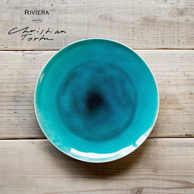 Riviera/リヴィエラ ディナープレート 27cm アズール ストーンウェア ポルトガル コスタ・ノバ costa-nova 洋食器 大皿 主菜皿 盛り皿 ワンプレート おしゃれ|niconomanimani