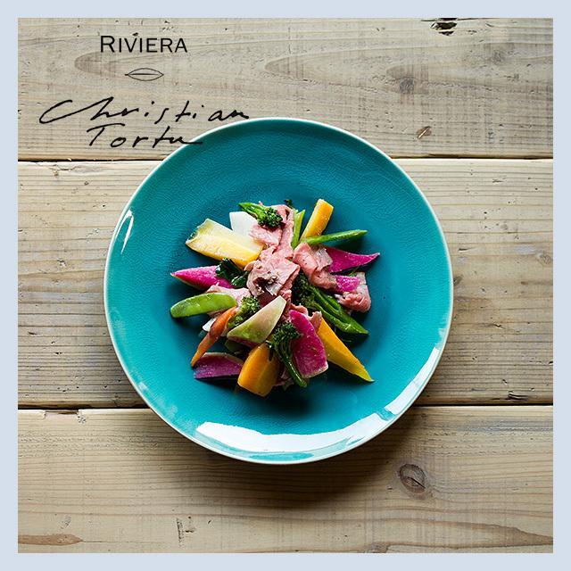 Riviera/リヴィエラ ディナープレート 27cm アズール ストーンウェア ポルトガル コスタ・ノバ costa-nova 洋食器 大皿 主菜皿 盛り皿 ワンプレート おしゃれ|niconomanimani|03