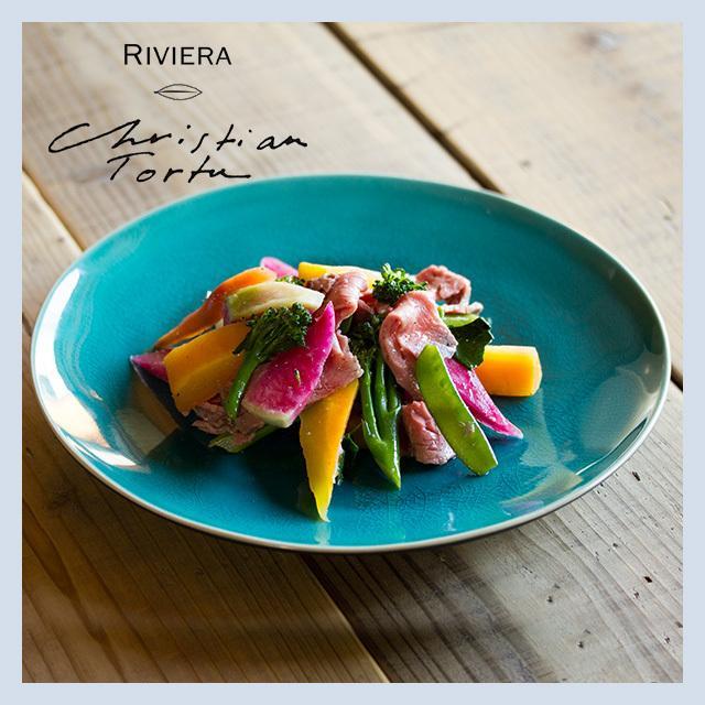 Riviera/リヴィエラ ディナープレート 27cm アズール ストーンウェア ポルトガル コスタ・ノバ costa-nova 洋食器 大皿 主菜皿 盛り皿 ワンプレート おしゃれ|niconomanimani|04
