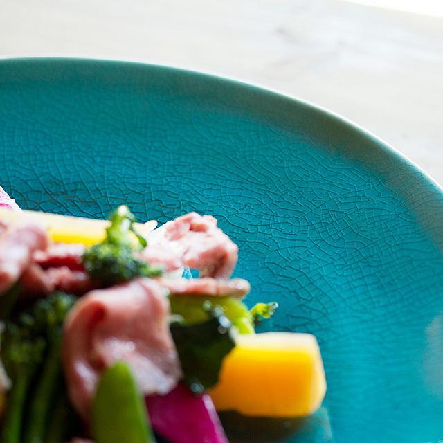 Riviera/リヴィエラ ディナープレート 27cm アズール ストーンウェア ポルトガル コスタ・ノバ costa-nova 洋食器 大皿 主菜皿 盛り皿 ワンプレート おしゃれ|niconomanimani|05