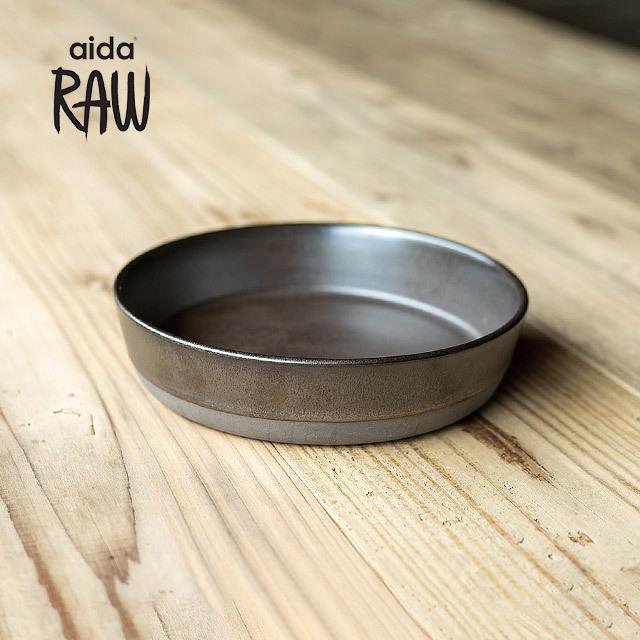RAW/ロウ スーププレート 19cm メタリックブラウン ストーンウェア 北欧 食器 洋食器 和食器 大皿 深皿 カレー皿 カフェ おしゃれ niconomanimani
