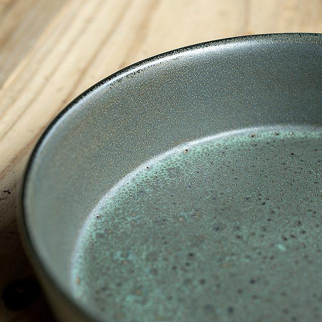 RAW/ロウ スーププレート 19cm メタリックブラウン ストーンウェア 北欧 食器 洋食器 和食器 大皿 深皿 カレー皿 カフェ おしゃれ niconomanimani 07