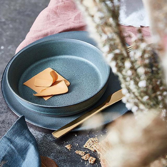 RAW/ロウ スーププレート 19cm メタリックブラウン ストーンウェア 北欧 食器 洋食器 和食器 大皿 深皿 カレー皿 カフェ おしゃれ niconomanimani 09
