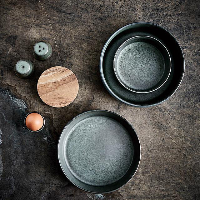 RAW/ロウ スーププレート 19cm メタリックブラウン ストーンウェア 北欧 食器 洋食器 和食器 大皿 深皿 カレー皿 カフェ おしゃれ niconomanimani 11