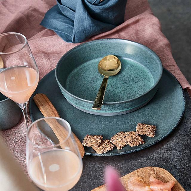 RAW/ロウ スーププレート 19cm メタリックブラウン ストーンウェア 北欧 食器 洋食器 和食器 大皿 深皿 カレー皿 カフェ おしゃれ niconomanimani 12