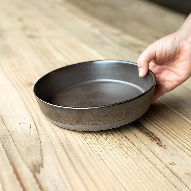 RAW/ロウ スーププレート 19cm メタリックブラウン ストーンウェア 北欧 食器 洋食器 和食器 大皿 深皿 カレー皿 カフェ おしゃれ niconomanimani 03