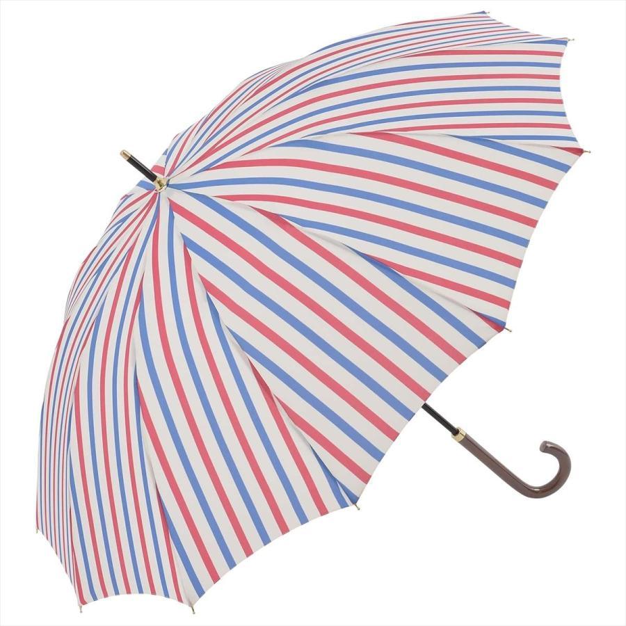 【公式】ニフティカラーズ レディース 雨傘 長傘 12本骨 ストライプ 耐風  1381 niftycolors niftycolors 15
