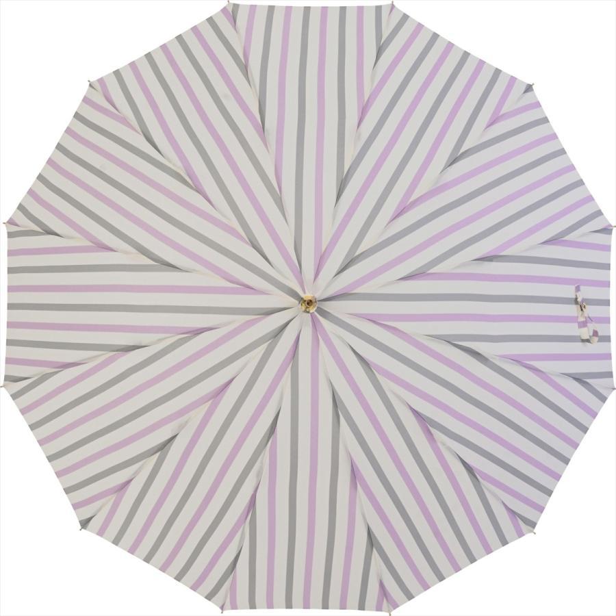 【公式】ニフティカラーズ レディース 雨傘 長傘 12本骨 ストライプ 耐風  1381 niftycolors niftycolors 07