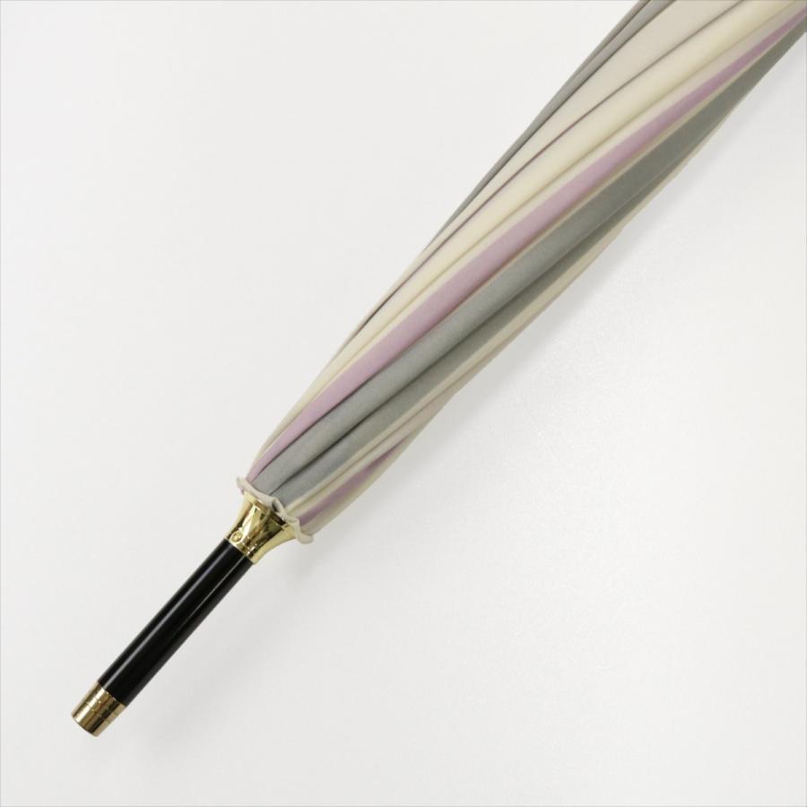 【公式】ニフティカラーズ レディース 雨傘 長傘 12本骨 ストライプ 耐風  1381 niftycolors niftycolors 09