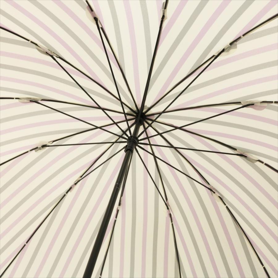 【公式】ニフティカラーズ レディース 雨傘 長傘 12本骨 ストライプ 耐風  1381 niftycolors niftycolors 13
