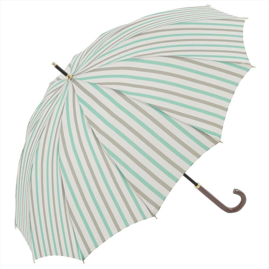 【公式】ニフティカラーズ レディース 雨傘 長傘 12本骨 ストライプ 耐風  1381 niftycolors niftycolors 16