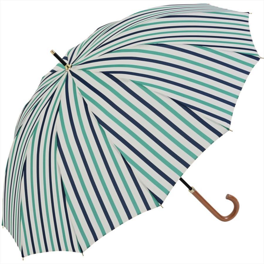 【公式】ニフティカラーズ レディース 雨傘 長傘 12本骨 ストライプ 耐風  1381 niftycolors niftycolors 17