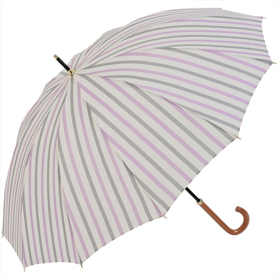 【公式】ニフティカラーズ レディース 雨傘 長傘 12本骨 ストライプ 耐風  1381 niftycolors niftycolors 18