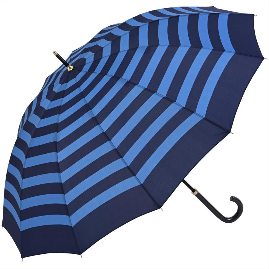 【公式】 レディース 婦人 雨傘 長傘 12本骨 マリンボーダー ネイビー グレー グリーン 1383 niftycolors ニフティカラーズ niftycolors 21