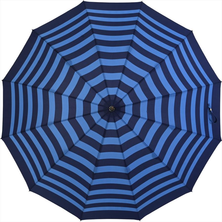 【公式】 レディース 婦人 雨傘 長傘 12本骨 マリンボーダー ネイビー グレー グリーン 1383 niftycolors ニフティカラーズ niftycolors 08