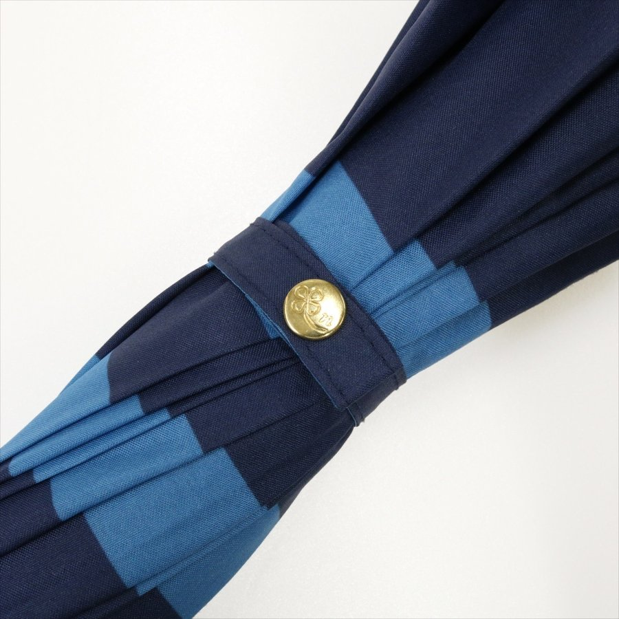 【公式】 レディース 婦人 雨傘 長傘 12本骨 マリンボーダー ネイビー グレー グリーン 1383 niftycolors ニフティカラーズ niftycolors 11