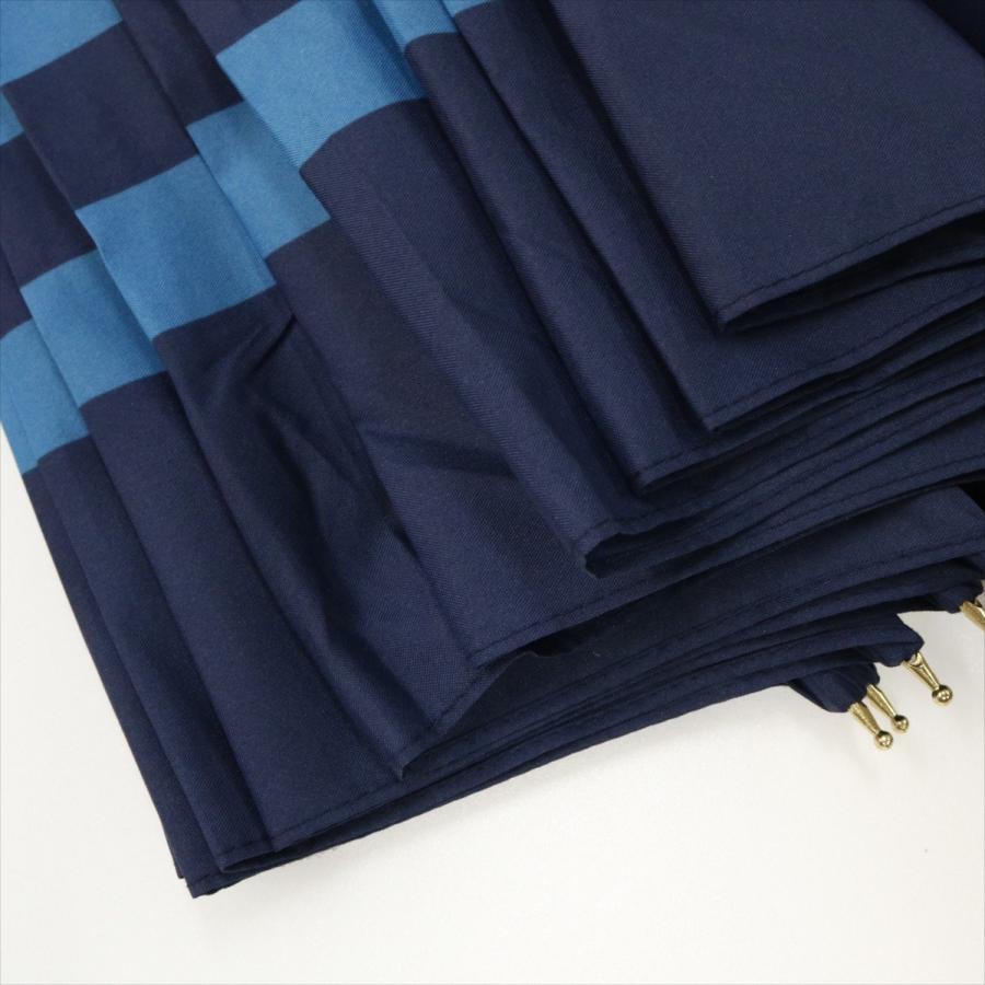 【公式】 レディース 婦人 雨傘 長傘 12本骨 マリンボーダー ネイビー グレー グリーン 1383 niftycolors ニフティカラーズ niftycolors 13