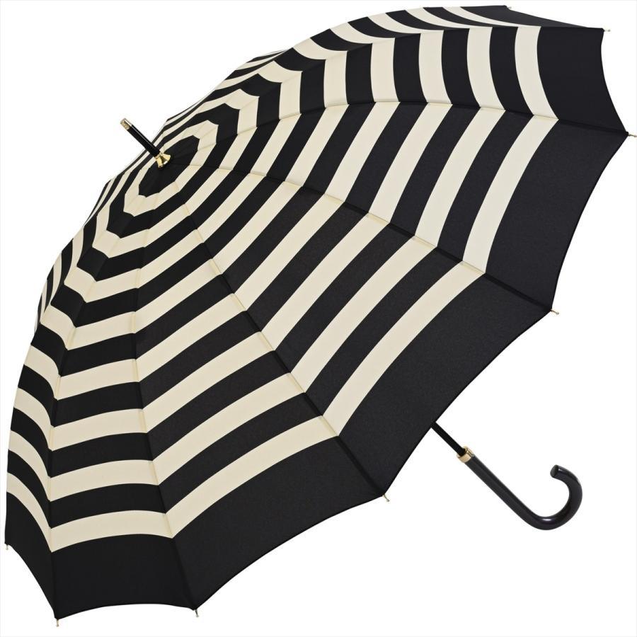 【公式】 レディース 婦人 雨傘 長傘 12本骨 マリンボーダー ネイビー グレー グリーン 1383 niftycolors ニフティカラーズ niftycolors 20