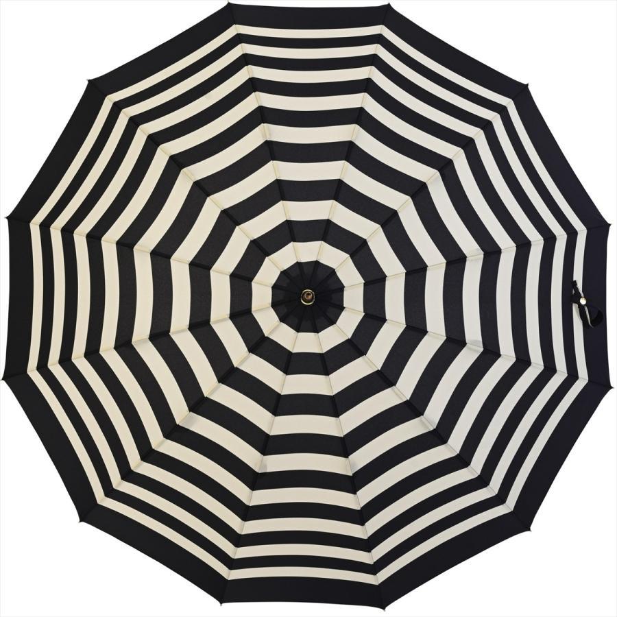 【公式】 レディース 婦人 雨傘 長傘 12本骨 マリンボーダー ネイビー グレー グリーン 1383 niftycolors ニフティカラーズ niftycolors 06