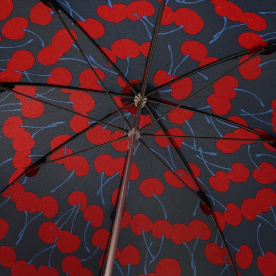 【公式】 ニフティカラーズ 傘  さくらんぼ チェリー 大柄 レディース 長傘 ドーム型 晴雨兼用 UV 防水 58cm 大きめ 紫外線防止|niftycolors|09